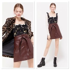 UO Maisie Belted Snap Button Mini Skirt
